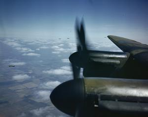 AVRO LANCASTER BOMBERS IN FLIGHT, 26 AUGUST 1943