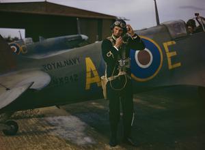 GROUND CREW WORKING ON FLEET AIR ARM AIRCRAFT AT RNAS YEOVILTON, SEPTEMBER 1943