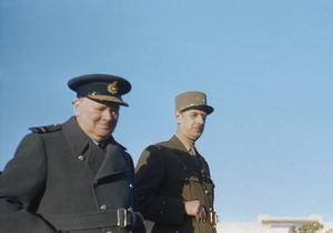 WINSTON CHURCHILL IN MARRAKESH, MOROCCO, JANUARY 1944