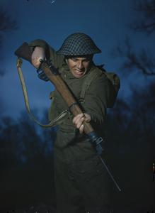 THE BRITISH ARMY IN TRAINING IN BRITAIN, 1944