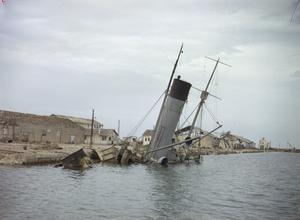 THE TUNISIAN PORT OF SOUSSE AFTER ALLIED BOMBING, 4 JUNE 1943