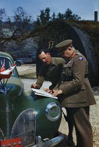 GENERAL SIR HENRY MAITLAND WILSON, THE SUPREME ALLIED COMMANDER, MEDITERRANEAN THEATRE, VISITS THE ITALIAN FRONT