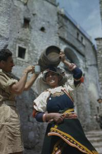 BRITISH SOLDIERS ON LEAVE IN LETINO, ITALY, 6 MAY 1944,
