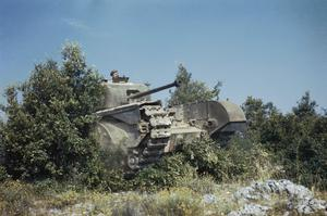 CHURCHILL TANKS IN ITALY, JULY 1944