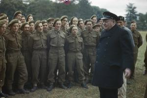THE VISIT OF THE PRIME MINISTER, WINSTON CHURCHILL TO CAEN, NORMANDY, 22 JULY 1944