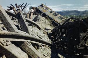 TRAIN BUSTING IN THE CORTONA-AREZZO AREA, ITALY, JULY 1944