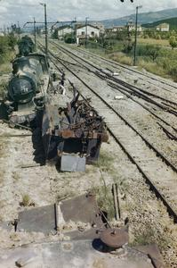 TRAIN BUSTING IN THE CORTONA-AREZZO AREA, ITALY, JULY 1944