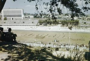 ALLIED FORCES SPORTS MEETING AT THE FORO ITALICO, FORMERLY THE MUSSOLINI FORUM, ROME, JULY 1944