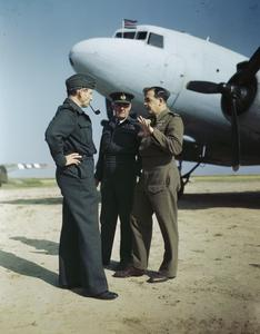 ROYAL AIR FORCE CHIEFS IN AIRFIELD CONFERENCE IN FRANCE, 31 JULY 1944