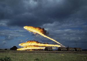 FLAMETHROWERS IN ACTION, AUGUST 1944