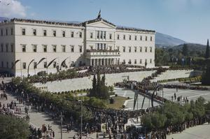 THE NEW GOVERNMENT OF GREECE ENTERS ATHENS, 18 OCTOBER 1944