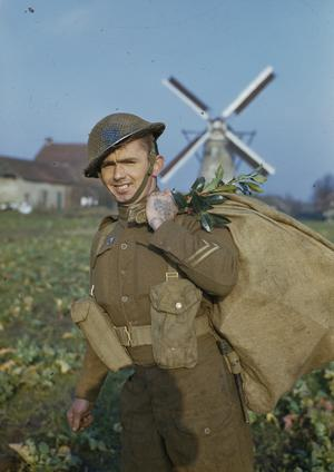 CHRISTMAS WITH THE BRITISH LIBERATION ARMY IN HOLLAND, NOVEMBER 1944