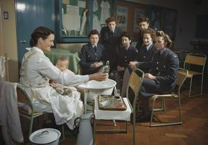 ROYAL AIR FORCE RESETTLEMENT TRAINING, EDMONTON, LONDON, 1945