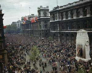 VE DAY CELEBRATIONS IN LONDON, 8 MAY 1945