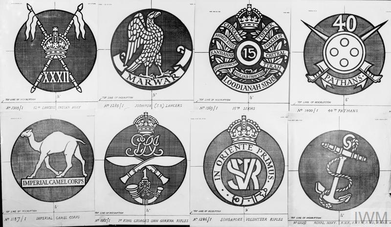 Regimental badges designed for headstones/2 - British & Commonwealth
