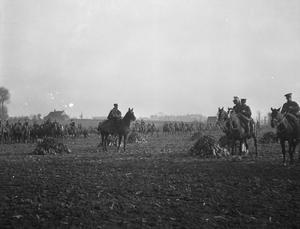 CAVALRY IN SUPPORT, NEAR YPRES