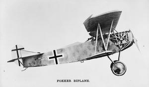 FOKKER BIPLANE D. VII. 180 H.P. MERCEDES ENGINE. SINGLE-SEAT FIGHTER