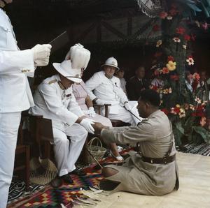 THE INSTALLATION OF RATU PENAIA AS ROKO IN SAMOSAMO ON FIJI, 19 JUNE 1957