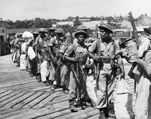 FIJI ISLANDERS FIGHTING IN THE PACIFIC, 1944