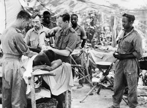 WEST AFRICAN CASUALTIES IN BURMA, AUGUST 1944