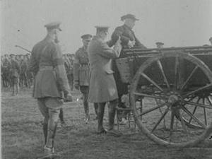 CARDINAL BOURNE VISITS THE IRISH TROOPS IN FRANCE [Main Title]