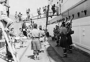 THE KING'S OWN SCOTTISH BORDERERS LEAVE KOREA, AUGUST 1952