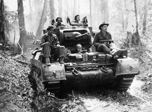 AUSTRALIAN FORCES IN THE SOLOMON ISLANDS, 1945