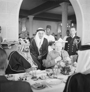 WINSTON CHURCHILL IN EGYPT DURING THE SECOND WORLD WAR