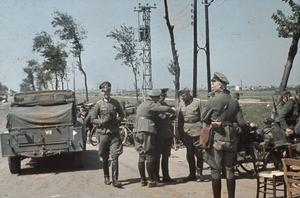 THE FALL OF FRANCE IN 1940:  GERMAN OFFICIAL COLOUR PHOTOGRAPHS OF DUNKIRK IMMEDIATELY AFTER THE BRITISH EVACUATION
