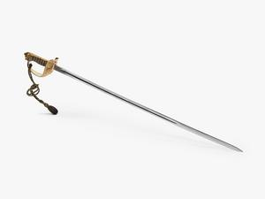 sword, Royal Navy, Officer, with scabbard and sword knot