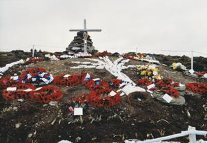 COMMEMORATIVE VISIT TO THE FALKLAND ISLANDS BY RELATIVES OF BRITISH CASUALTIES OF THE FALKLANDS WAR, 1982