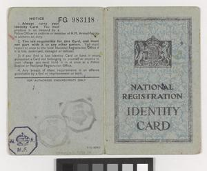 Postwar National Registration Identity Cards