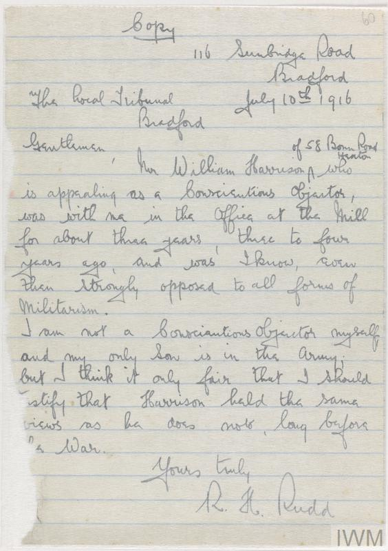 Private Papers of W Harrison