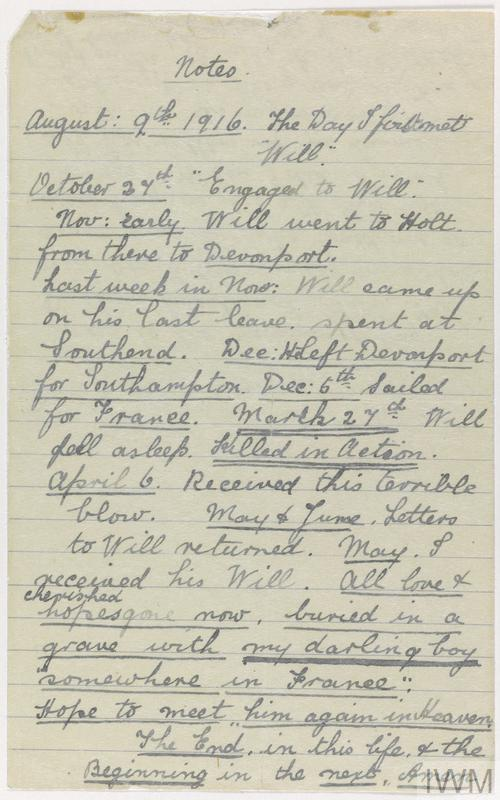 Private Papers of W J Martin
