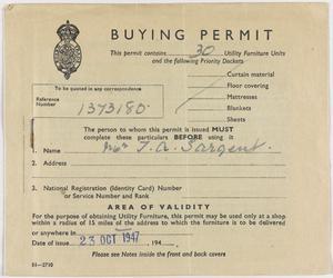 Postwar National Registration Identity Cards