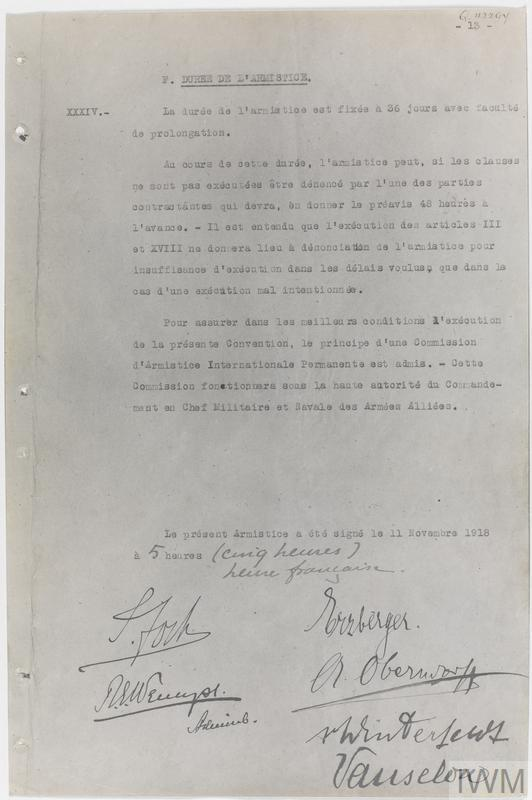 Armistice Documents, 1918