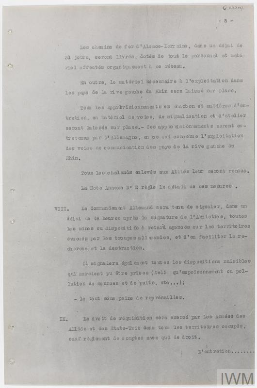 Armistice Documents, 1918
