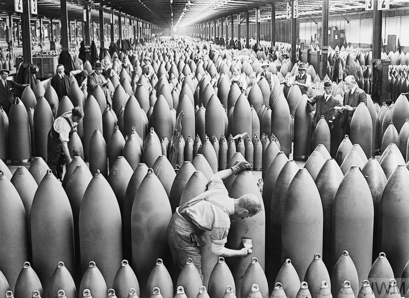 MUNITIONS PRODUCTION ON THE HOME FRONT, 1914-1918