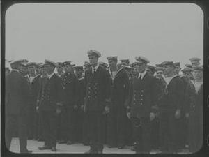 ADMIRAL BEATTY WITH HEROES OF ZEEBRUGGE [Allocated Title]