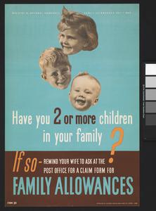 Have You Two or More Children in Your Family? - Family Allowances
