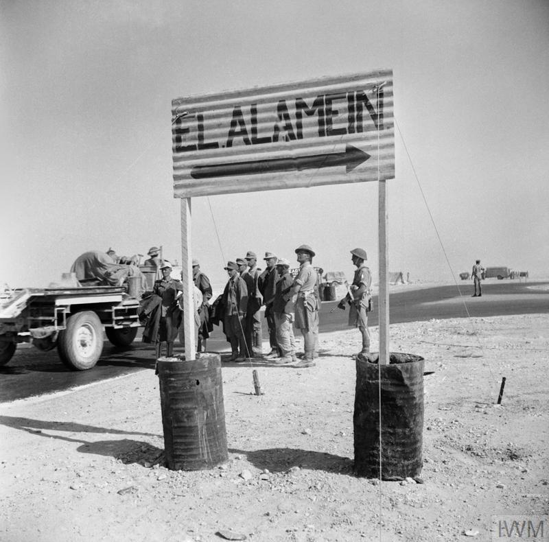 El alamein german prisoners of war wait for transport after their