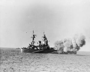 THE ROYAL NAVY OFF THE CAEN COAST, NORMANDY, JUNE 1944