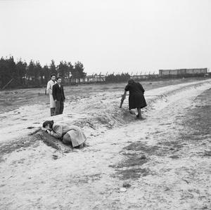 THE FIRST ANNIVERSARY OF THE LIBERATION OF BERGEN-BELSEN CONCENTRATION CAMP, APRIL 1946