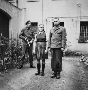 THE LIBERATION OF BERGEN-BELSEN CONCENTRATION CAMP 1945: PORTRAITS OF BELSEN GUARDS AT CELLE AWAITING TRIAL, AUGUST 1945