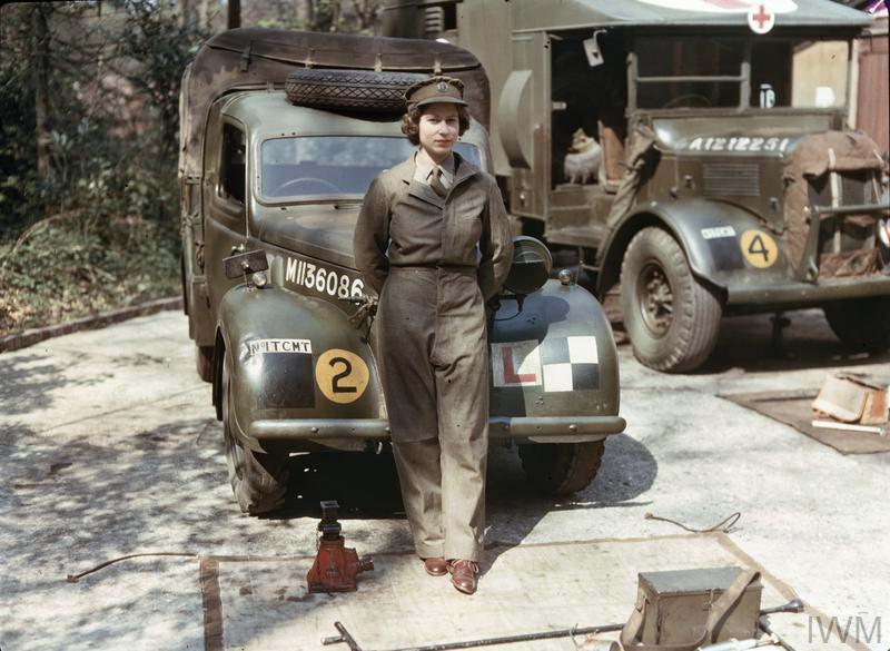 Princess Elizabeth joined the ATS (Auxiliary Territorial Services)