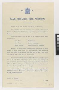 War service for women