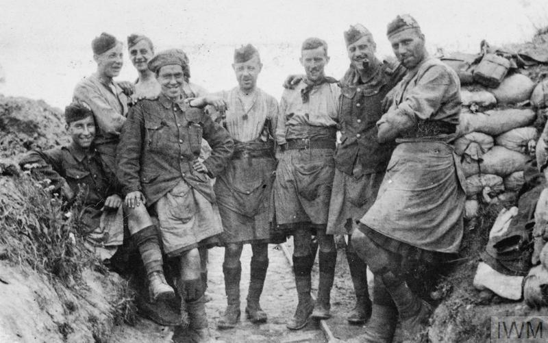 9th Glasgow Highlanders Highland Light Infantry During The