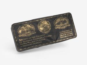 chocolate tin, The Gift Of The Colonies Of Trinidad, Grenada & St. Lucia
