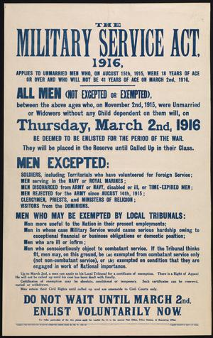 The Military Service Act, 1916