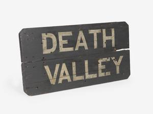 location sign, Death Valley